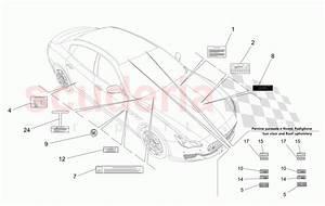 Maserati Quattroporte  2013   Gts Stickers And Labels