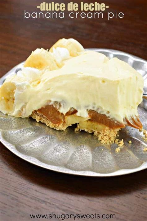 dulce de leche banana cream pie shugary sweets