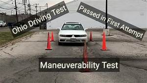 How To Pass Maneuverability Test  Cone Test   U2013 Driving