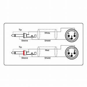 adam hall procab kcref708150 2x xlr macho to 2x 63 mm With xlr to jack wiring