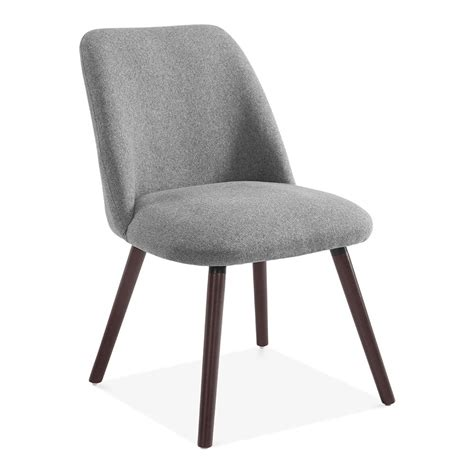 hanover sleek scandinavian dining chair grey fabric cult uk