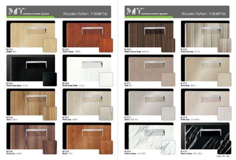 types of kitchen cabinets materials modern wood kitchen cabinet yellow cherry steel door panel