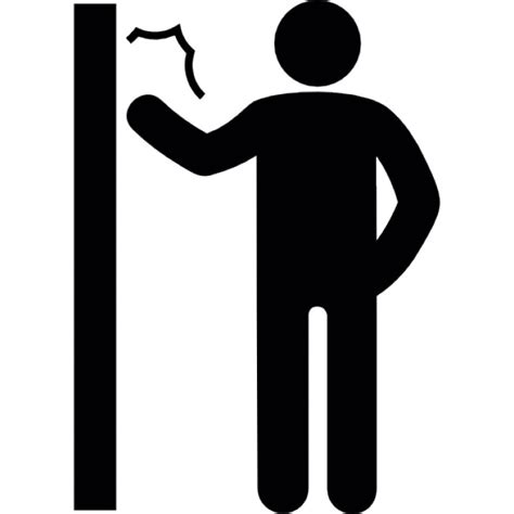 frapper a la porte homme frapper une porte t 233 l 233 charger icons gratuitement