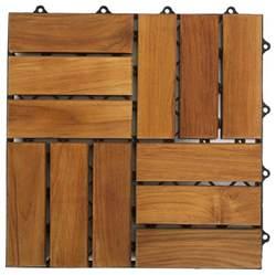 Wood Tile Decking by Cortesi Home U Snap Interlocking Wood Floor Tiles In Solid