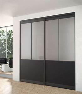 Porte Coulissante Miroir Sur Mesure : porte de placard coulissante sur mesure brico depot ~ Premium-room.com Idées de Décoration