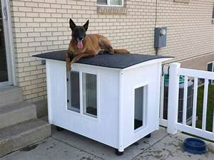 30 awesome dog house diy ideas indoor outdoor design photos for Diy outdoor dog house