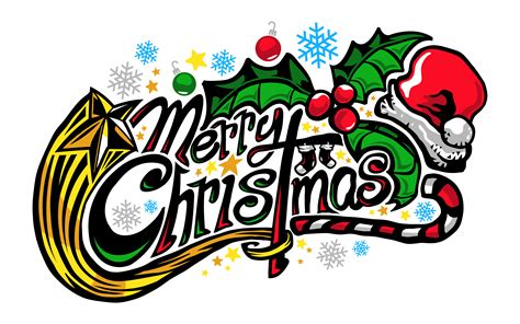 merry christmas text font graphic download free vector art stock graphics images