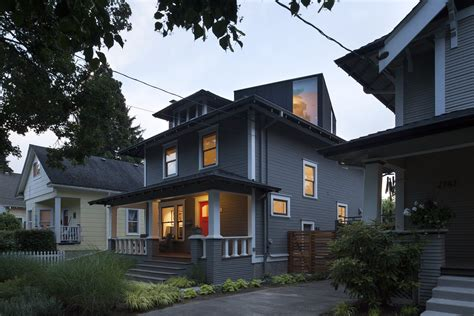 wouldnt expect  rooftop addition   american foursquare  portland dwell