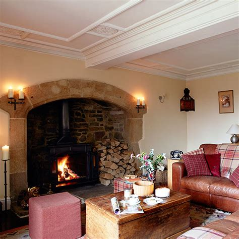 Country Living Room Ideas With Fireplace by Country Living Room With Inglenook Fireplace Living Room