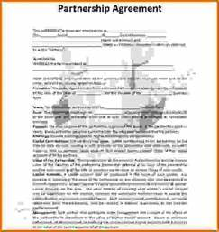 Partnership Agreement Template Wordreference Letters Words