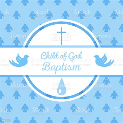Baptism Invitation Template Stock Vector Art & More Images