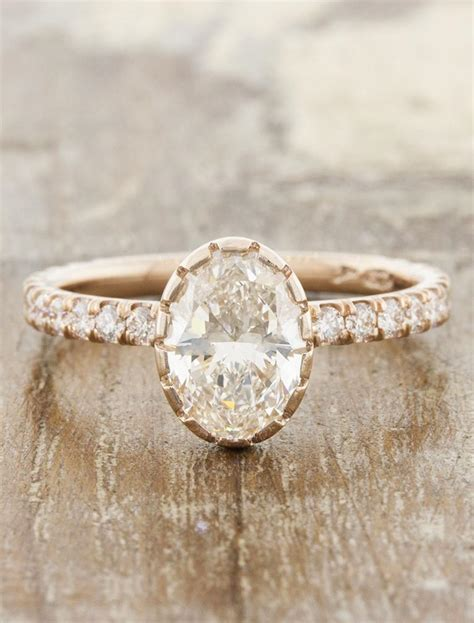 estefania oval cut diamond unique bezel setting ken dana design