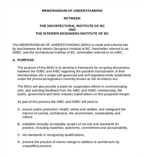 Free Sle Memorandum Of Understanding Template by Non Profit Mou Template 28 Images Memorandum Of