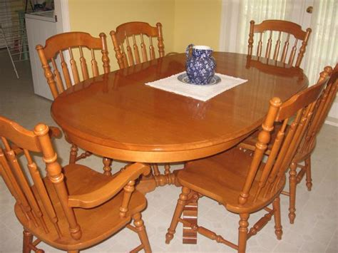 roxton maple oval table and chairs central saanich