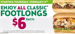 Subway's $5 foot-long meal deal now costs $6 - to ...