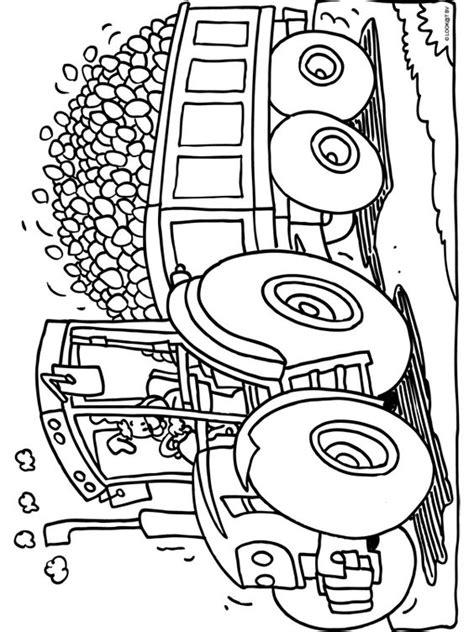 Afbeelding Tractor Kleurplaat by Kleurplaat Tractor Met Heel Veel Paaseieren Kleurplaten