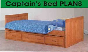 Captains Bed Plans Twin Free Download PDF DIY xylos