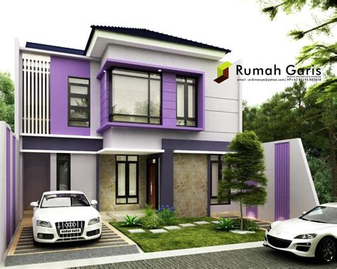 tampak depan rumah cantik modern minimalis rumah