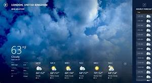 MSN Weather app for Windows in the Windows Store