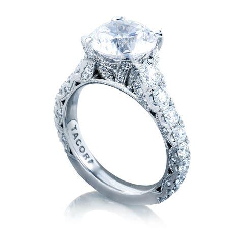 tacori engagement rings royalt setting 1 65ctw engagement ring and solitaire engagement
