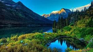 lake, mountain, scenery, wallpapers
