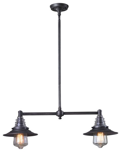 elk lighting 66830 2 billiard island transitional pool