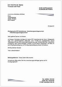 Rechnung Bei Versicherung Einreichen Vorlage : k ndigungsschreiben kfz versicherung k ndigen vorlage muster beispiel ~ Themetempest.com Abrechnung