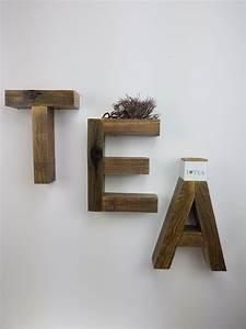 Wohnzimmer Wand Holz : einrichtungsidee deko regal eat oder tea einzelst ck ~ Lizthompson.info Haus und Dekorationen