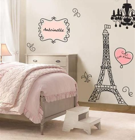 Kinderzimmer Für Mädchen Retrocharme Eiffelturm Wandtattoo