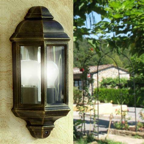 venus half lantern wall lighting traditional exterior garden