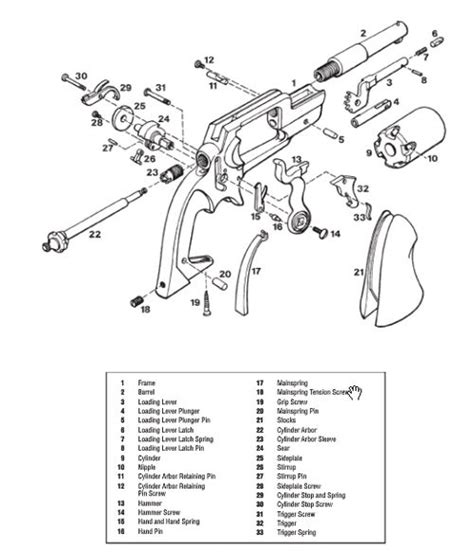 Colt Handguns Exploded Gun Drawings Digital Pdf Download
