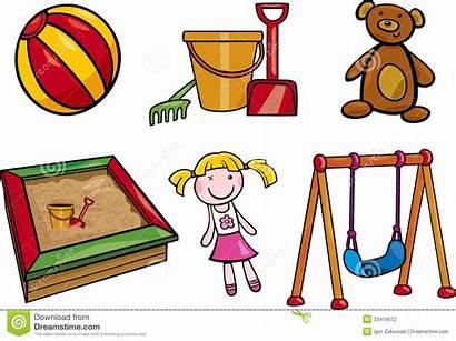 Objects Cartoon Toys Clip Children Illustration Arts