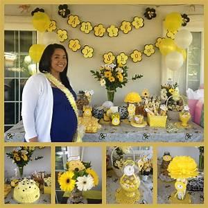 Angie's baby shower bee theme #Sandrukesinc Pinterest