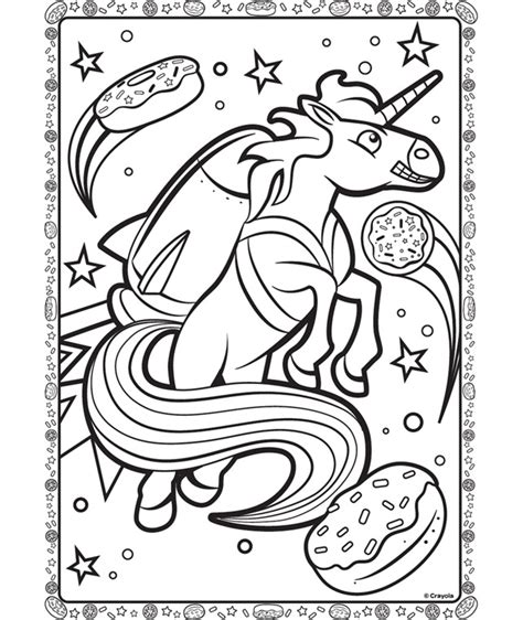 unicorn  space coloring page crayolacom