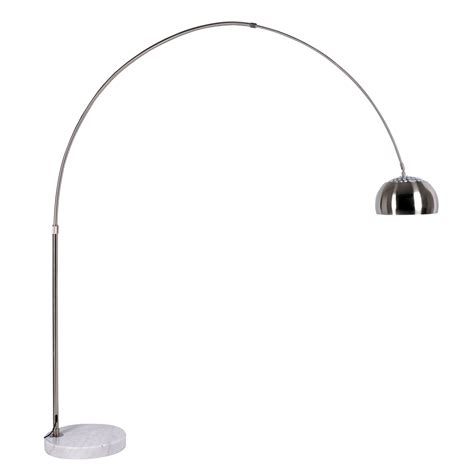 curved floor l with large shade curved floor light with metal shade dwell