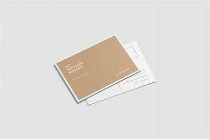 Mockup Psd Postcard A6 Shot Mock Premium