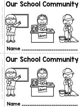 school workers worksheet school community helpers printable mini book freebie tpt