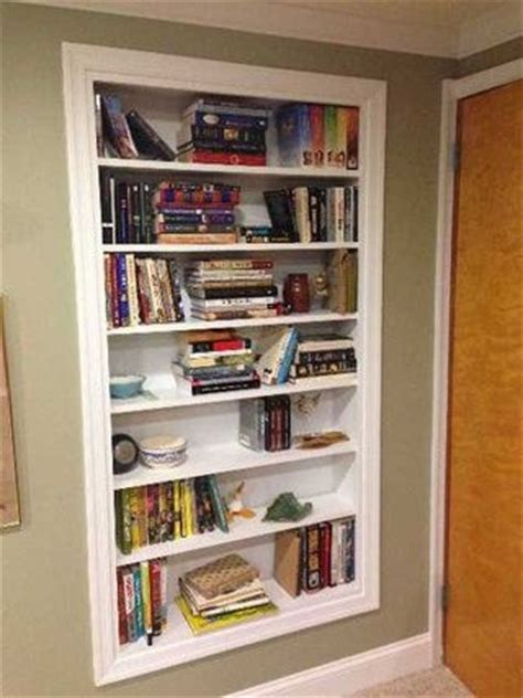 bookcase built into wall build shelves directly into your walls for extra storage