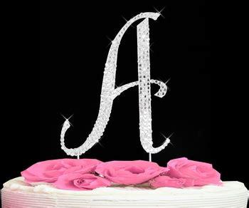 letter  cake topper rhinestone initial  cake toppers justjencom