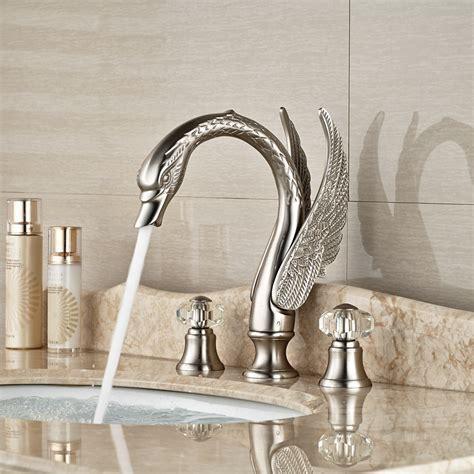 Bathroom: Interesting Brushed Nickel Bathroom Faucets For