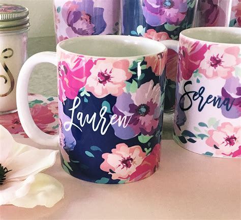 floral coffee mugs personalized floral coffee mugs 1019