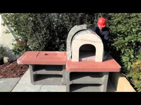 assembly  wood fired pizza oven  charcoal bbq combo