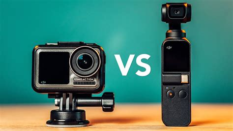 dji osmo action  dji osmo pocket side  side comparison  shooters