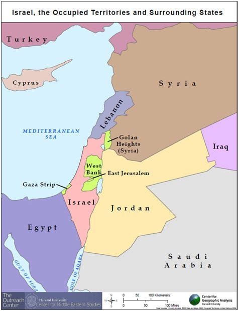 israel palestine map series center  geographic