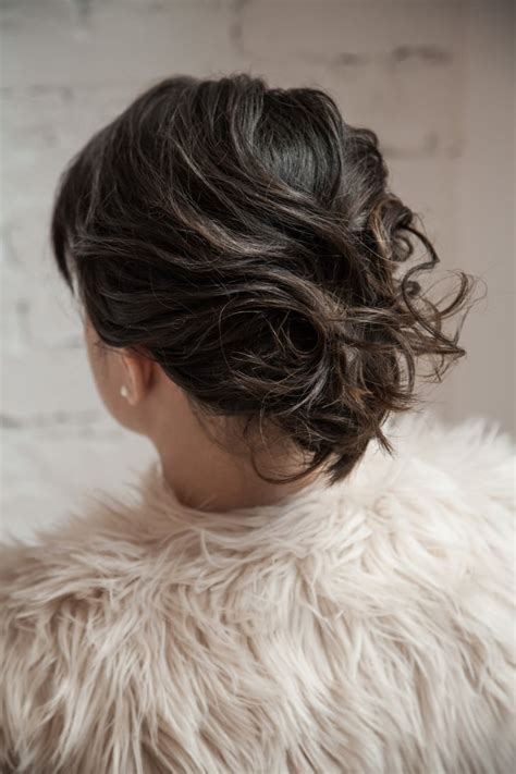 finished  holiday hair ideas  short hair popsugar beauty photo