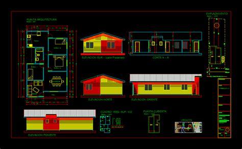 architecture simple house  autocad  cad