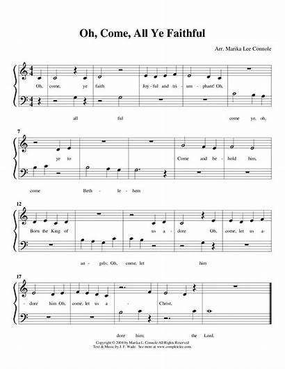 Songs Piano Primer Sheet Song Solo Christmas