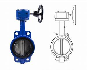 Wafer Style Butterfly Valves  U2014 Gear Operator  Series Bv