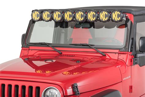 jeep grand cherokee kc lights kc hilites 91312 gravity pro6 led light bar for 97 06 jeep