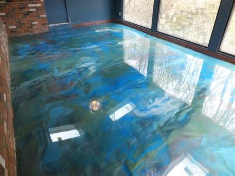 metallic effect epoxy floor elmers waterfall restaurant